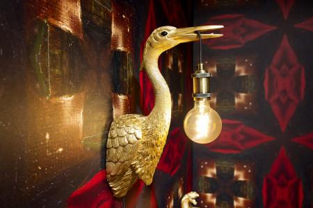 Wandleuchte Golden Crane