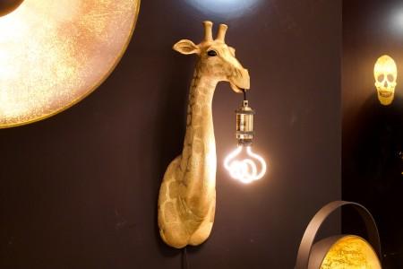Wandleuchte Giraffe gold